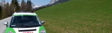 Elektroautos gehören in Werfenweng zum Ortsbild