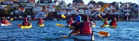 Westschweden, eine Weltklasse-Destination für Meeres-Kajaking