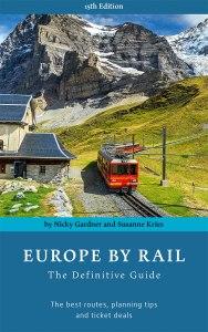 Cover des Buches Europe by Rail, in dem 50 Bahnrouten in Europa und zahlreiche Nebenstrecken aufgeführt sind