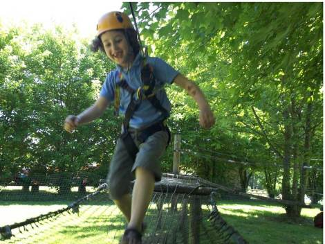 Voller Einsatz und Begeisterung im Kletterpark