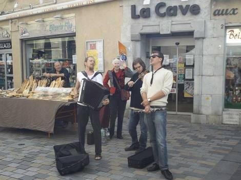 Strassenmusikanten in Besancon